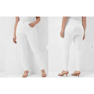Express White Wash Skinny High Rise Jeans